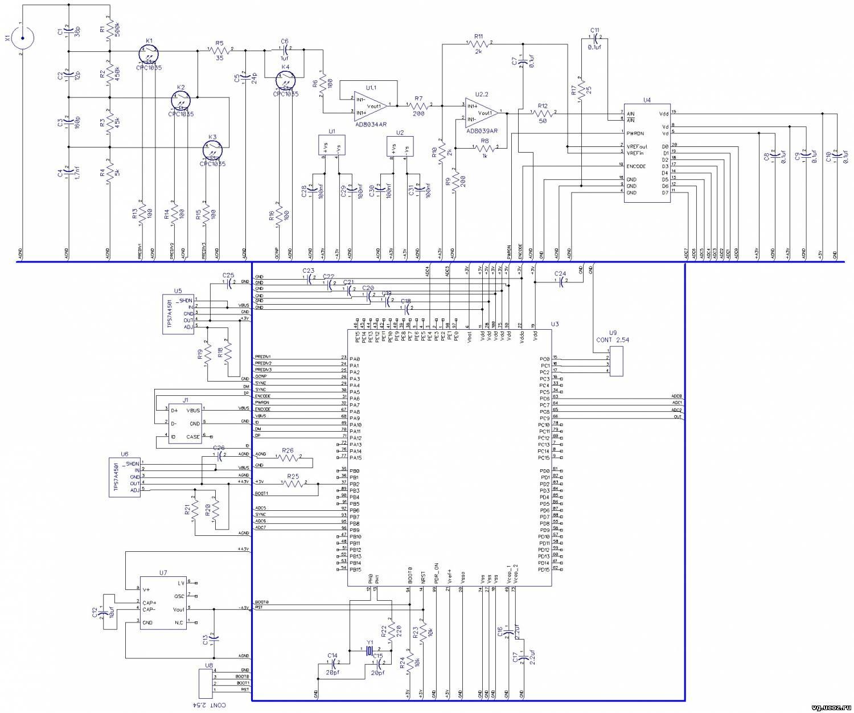 компьютерный осциллограф схема
